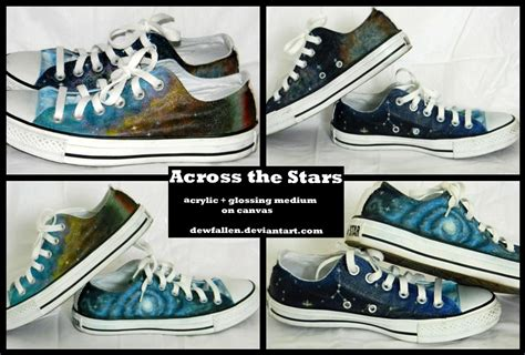 galaxy shoes painted converse by dewfallen on deviantart