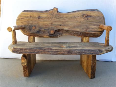 Handcrafted Wooden Benches - items similar to rustic log wood bench handcrafted