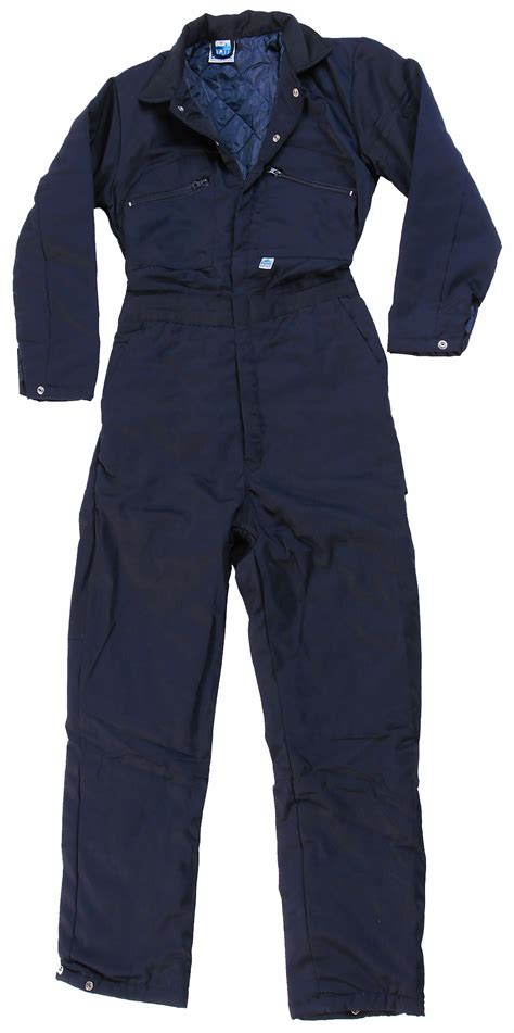 castle clothing quilted boiler suit navy blue overall