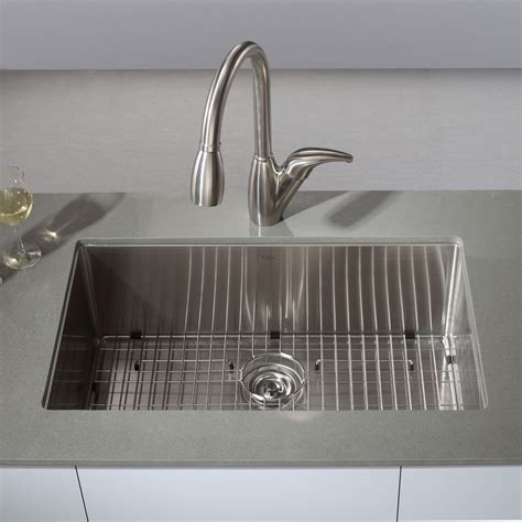 Kraus Undermount Kitchen Sink Kraus Khu100 30 Kitchen Sink Stainless Steel Undermount Single Bowl Kitchen Sinks Efaucets