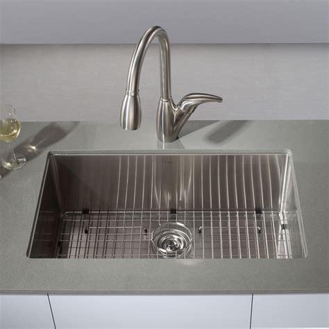 Kraus KHU100 30 Kitchen Sink Stainless Steel Undermount Single Bowl Kitchen Sinks eFaucets.com