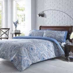 duvets cover sets vantona paisley print duvet cover set blue