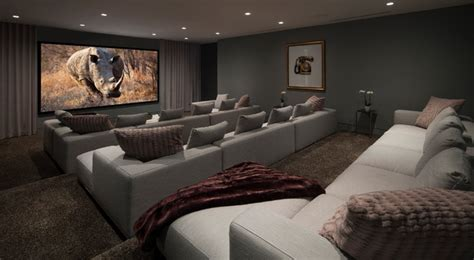 Home Theater Wall Sconces Lighting Oriole Way Contemporary Home Theater Orange County