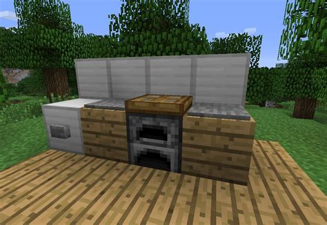 minecraft furniture kitchen how to make furniture in minecraft 171 minecraft wonderhowto