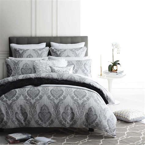 Silver Quilt Cover Set by Marcella Silver Quilt Cover Set By Logan And