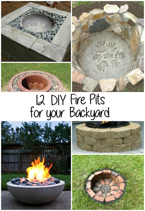 diy backyard fire pit 12 diy fire pits for your backyard the craftiest couple