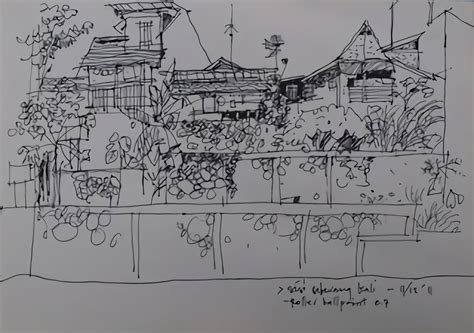 sketchbook kiky sketsa desain rumah dari arsitek tanah air yang keren