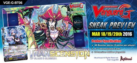 Vanguard Gbt 12 Booster sneak preview tournaments g booster pack vol 6