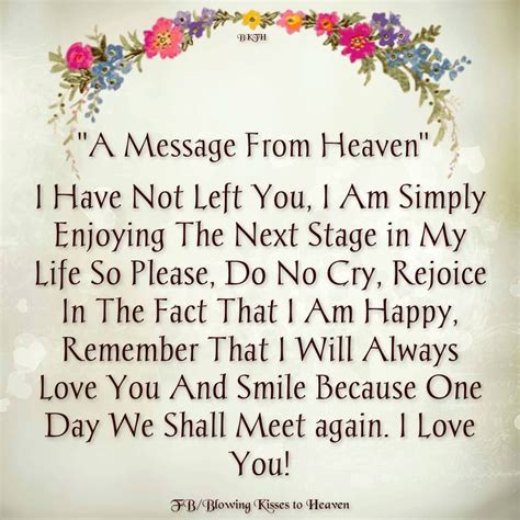 A Message From by A Message From Heaven Missing You