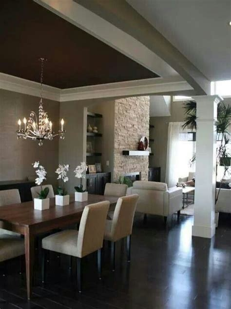 sala comedor en color beige deco en  home dark