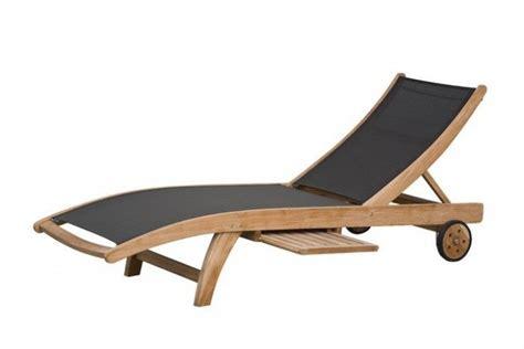 Terrasse Aus Holz Selber Bauen 2212 by Caldo Liege Sonnenliege Fsc Teak Textilene Schwarz