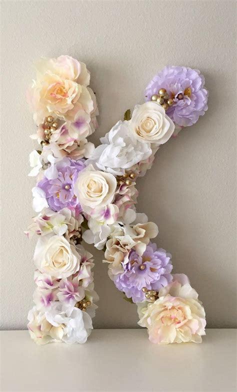 Flower Letter Decor