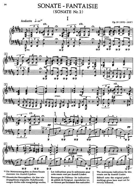 sonata section names piano sonata no 2 op 19 scriabin aleksandr imslp