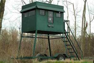 Elevated Box Blind Portable Steel Trailer Deer Blind