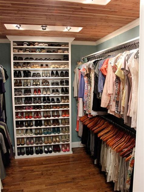 walk in closet shoe storage 40 clever closet storage and organization ideas hative