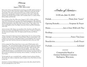 funeral obituary programs templates best photos of funeral program wording sles funeral