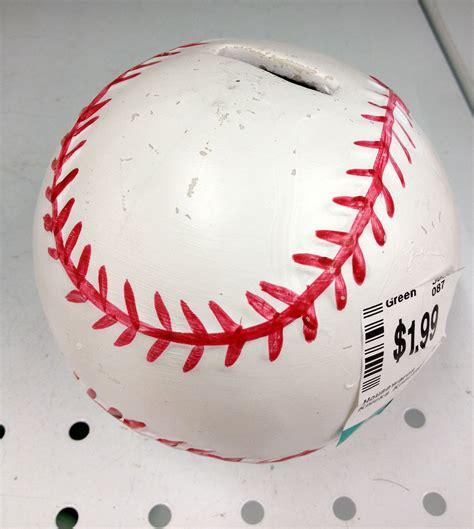 Baseball Piggy Bank 2 Thrift Shop Espn