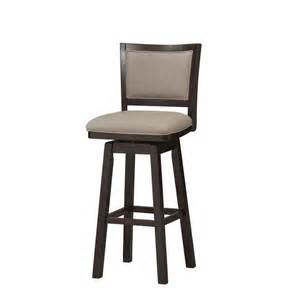 Padded Bar Chairs Padded Back Wood Swivel Counter Bar Stools
