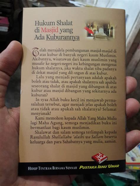Buku Saku Shalat Lebih Baik Daripada Tidur Pustaka Ibnu Umar buku saku hukum shalat di masjid yang ada kuburannya toko muslim title