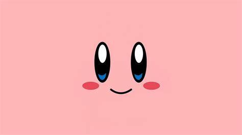az kirby pink face cute illustration art wallpaper