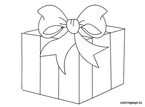 coloring page of gift box gift box clip art coloring page