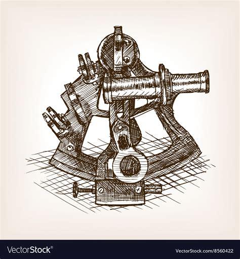 sextant sketch sextant sketch style royalty free vector image vectorstock