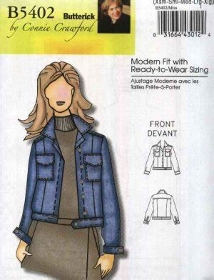 pattern for blue jean jacket butterick sewing pattern 5402 b5402 misses sizes 3 16