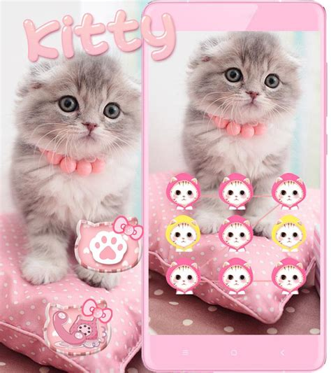 kitty kat themes pink cute kitty cat theme android apps on google play