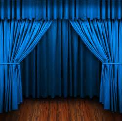 Stage curtain background with lights light blue curtain background