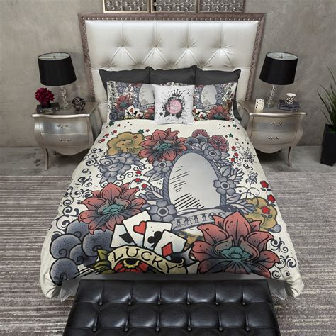 tattoo bedding tattoo mirror duvet bedding sets ink and rags