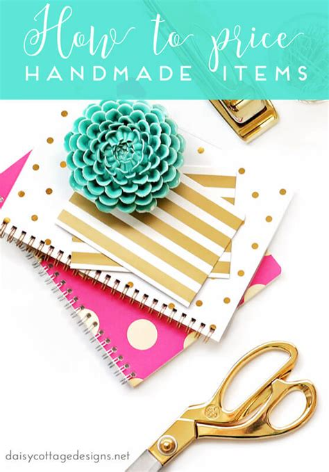 Pricing Handmade Items - how to price your items on etsy cottage designs