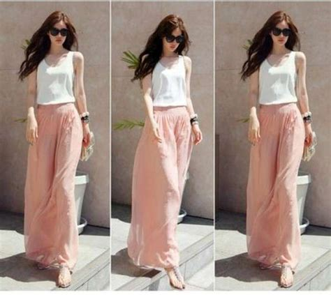 current pant styles for women collection of palazzo pants with short shirts 2014