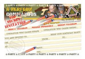 nerf party invitations template free printable templates