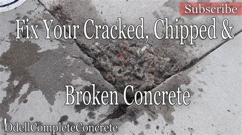 Ways To Fix Your Broken Products by How To Fix Or Repair Chipped Cracked Or Broken Concrete