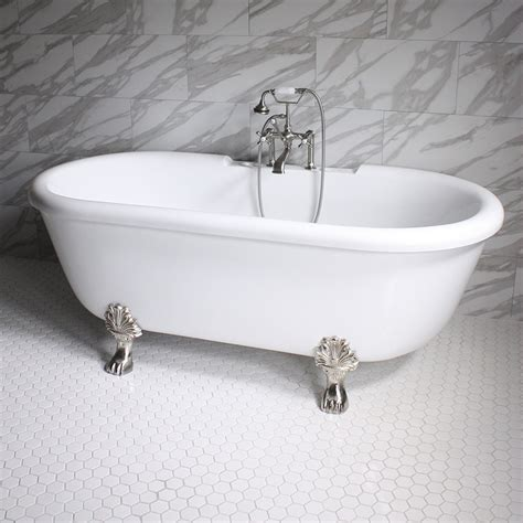 Jetted Clawfoot Tub Ss75w 75 Quot Sansiro Water Jetted Ended Clawfoot Tub