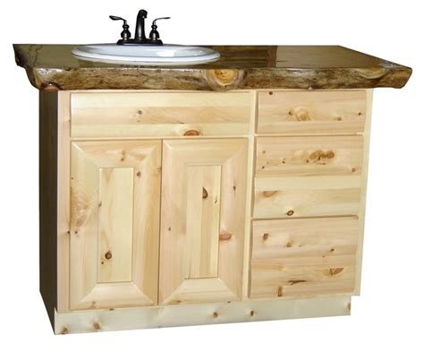 Pine Vanity Cabinet pine bathroom furniture pine log vanity cabinets log