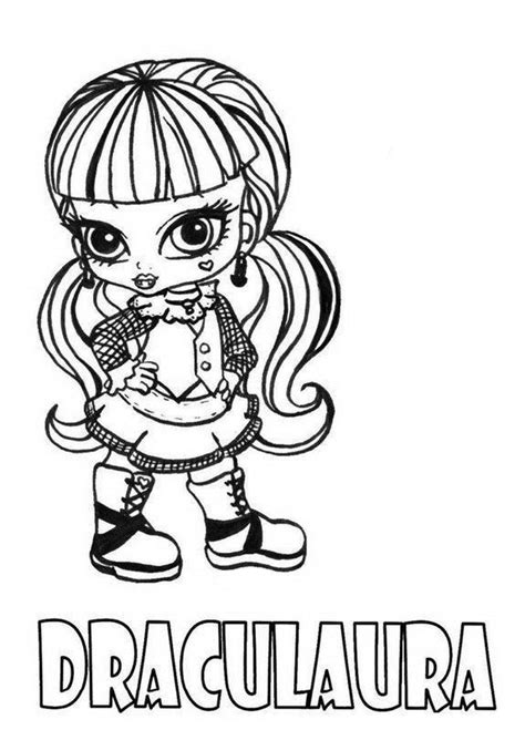 little monster high coloring pages monster high coloring pages printable draculaura little