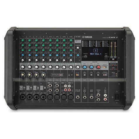 Mixer Yamaha 12 Channel Bekas yamaha emx7 12 channel 710 watt portable powered mixer