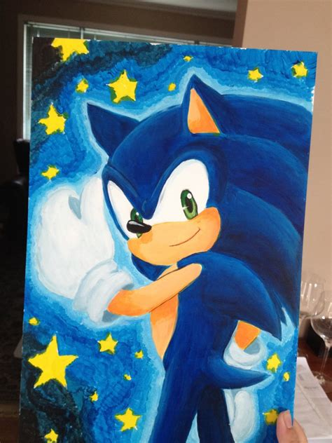 sonic painting sonic painting by angelofhapiness on deviantart