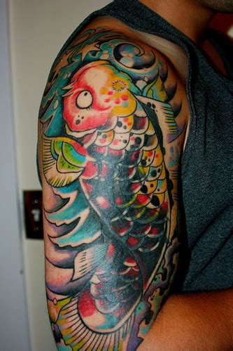 colorful koi fish tattoo designs japanese koi carp tattoos koi fish