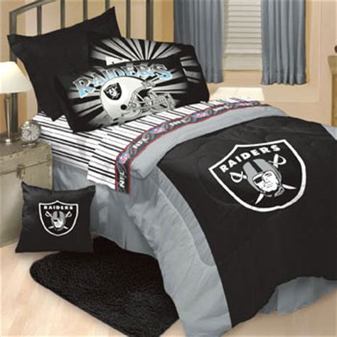 Raiders Bed Set Oakland Raiders Bedding Set Nfl Comforter And Sheets