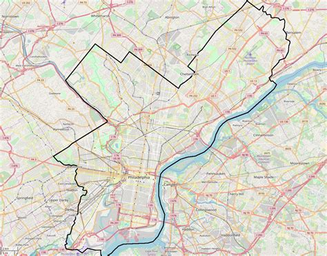 map of and surrounding areas file map of philadelphia and surrounding area png