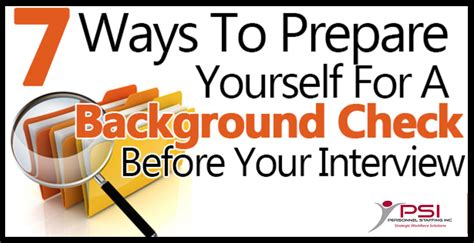How Can You Prepare For A Background Check Personnel Staffing 187 7 Ways To Prepare Yourself For A