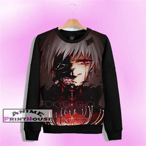 Kaos Anime Karakter Print Kaneki tokyo ghoul sweater ken kaneki design anime print house