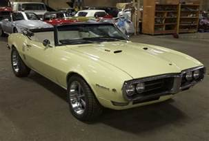 Pontiac Firebird 1968 Price 1968 Pontiac Firebird 4 Speed Convertible Bring A Trailer
