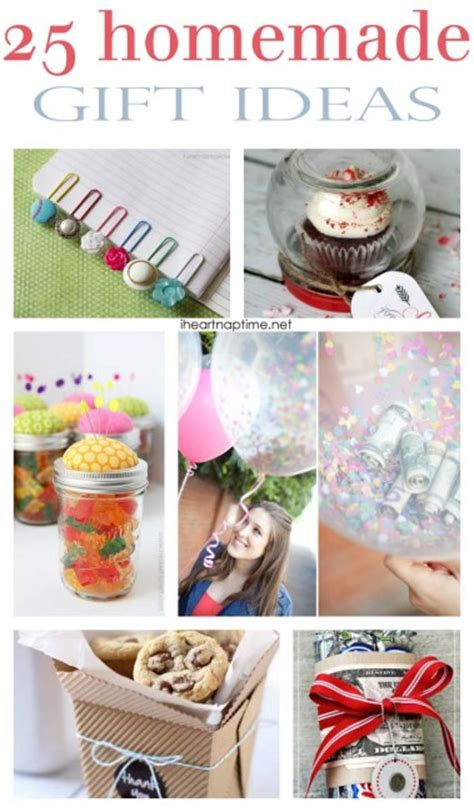 Small Handmade Gift Ideas - 101 inexpensive handmade gifts i nap time
