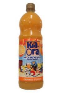 kia ora orange squash no added sugar soft drinks