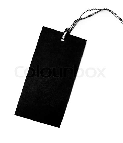 clothing hang tag blank template blank tag label isolated