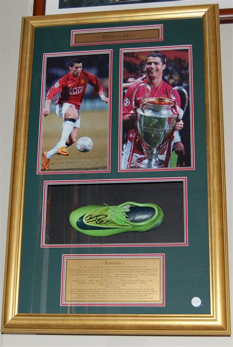 Simpsons Signed Boots Up For Auction For Charity by Cristiano Ronaldo Signed And Framed Boot Pro Sports