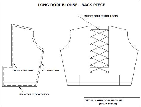 pattern making of katori blouse easy2stitch how to cut and stitch katori blouse with dori